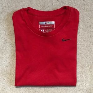 Luscious Candy Apple Red Nike FitDry Tee